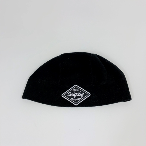 Flat Front Profile of Black Beanie