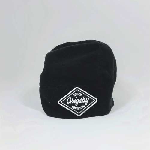 Raised Front Profile of Black Beanie